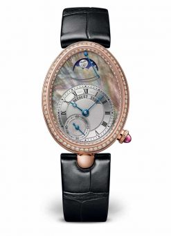 Breguet Reine De Naples 8908 18K Rose Gold & Diamonds Ladies Watch 8908BR/5T/964/D00D
