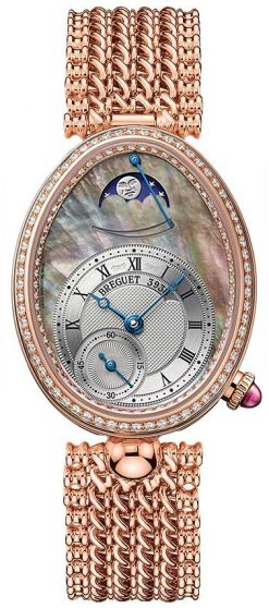 Breguet Reine De Naples 8908 18K Rose Gold & Diamonds Ladies Watch 8908BR/5T/J20/D000