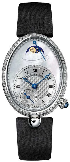 Breguet Reine De Naples 8908 18K White Gold & Diamonds Ladies Watch 8908BB/52/964/D00D