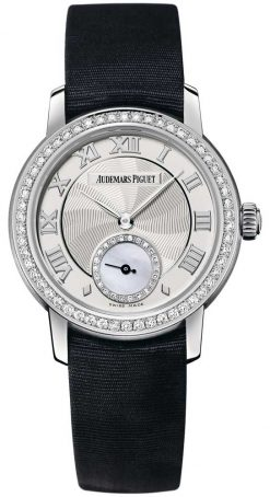 Audemars Piguet Jules Audemars Small Seconds 18K White Gold & Diamonds Ladies Watch Preowned-77228BC.ZZ.A001MR.01