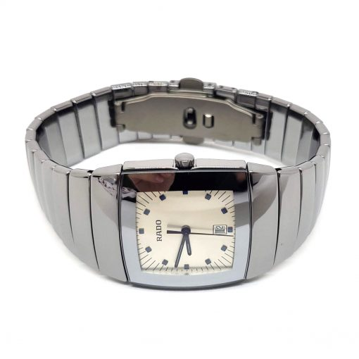 Sintra Silver Dial Platinum Color Ceramic Quartz Unisex Watch, 01.152.0721.3.010 9