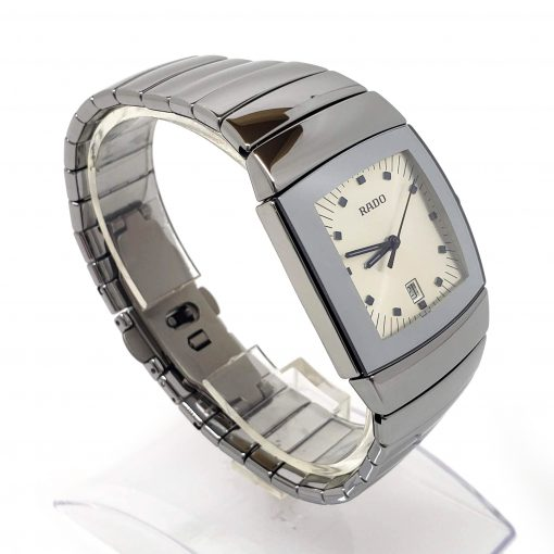 Sintra Silver Dial Platinum Color Ceramic Quartz Unisex Watch, 01.152.0721.3.010 8