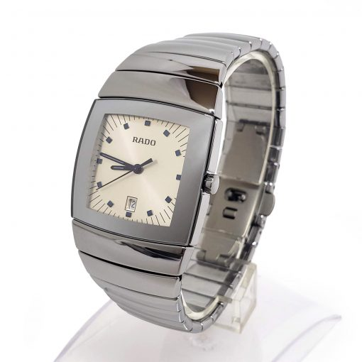 Sintra Silver Dial Platinum Color Ceramic Quartz Unisex Watch, 01.152.0721.3.010 5