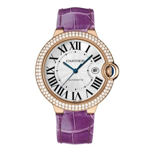 Cartier Ballon Bleu 42mm 18K Pink Gold and Diamonds Watch, WJBB0031