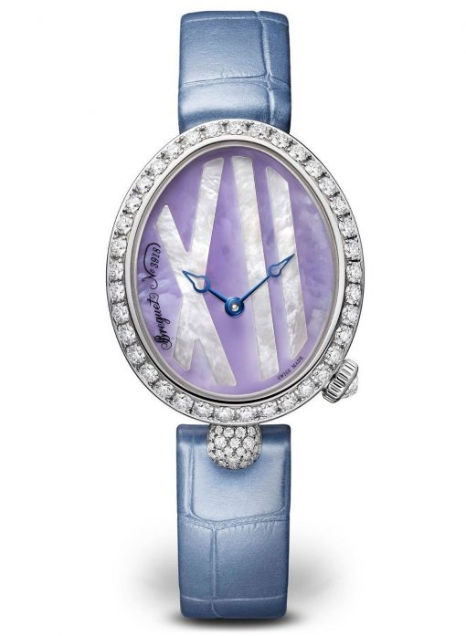 Breguet Reine De Naples 9818 18K White Gold & Diamonds Ladies Watch, 9818BB/5V/922/DD0D