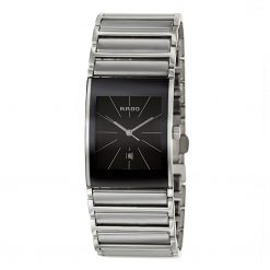 Rado Integral Black Dial Ceramic Quartz Unisex Watch 01.152.0784.3.115