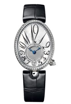 Breguet Reine De Naples 8918 18K White Gold & Diamonds Ladies Watch 8918BB/58/964/D00D
