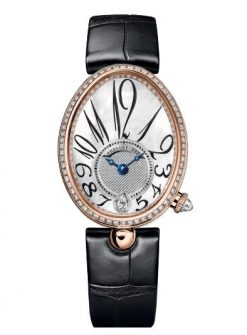 Breguet Reine De Naples 8918 18K Rose Gold & Diamonds Ladies Watch 8918BR/58/964/D00D