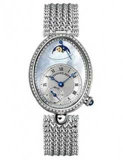 Breguet Reine De Naples 8908 18K White Gold & Diamonds Ladies Watch 8908BB/52/J20/D000