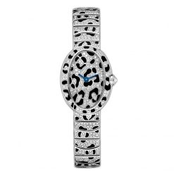 Cartier Baignoire Mini Panther Spots White Gold Lady's Watch on a Bracelet HPI00704