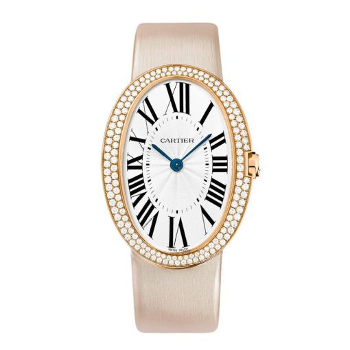 Cartier Baignoire Large 18K Pink Gold & Diamonds Lady's Watch, WB520005