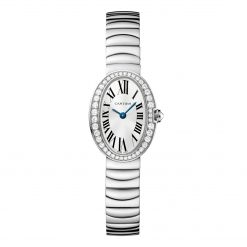 Cartier Baignoire Mini White Gold Diamond Lady's Watch on a Bracelet WB520025