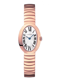 Cartier Baignoire Mini 18K Pink Gold Lady's Watch W8000015