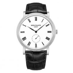Patek Philippe Calatrava 18k White Gold Men's Watch preowned-5119G-001