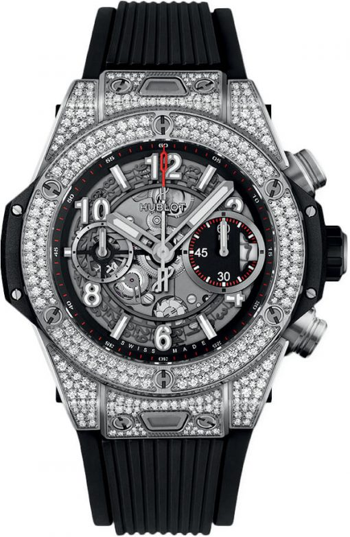 Hublot Big Bang Unico Titanium & Diamonds Unisex Watch, 441.NX.1170.RX.1704