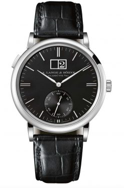 A. Lange and Sohne Saxonia Outside Date 18K White Gold Watch 381.029