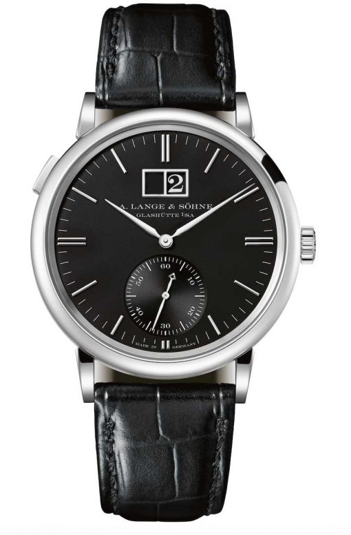 A. Lange and Sohne Saxonia Outside Date 18K White Gold Watch, 381.029