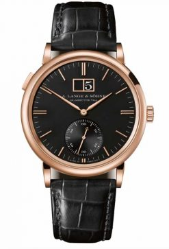 A. Lange and Sohne Saxonia Outside Date 18K Pink Gold Watch 381.031