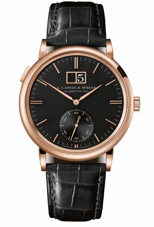 A. Lange and Sohne Saxonia Outside Date 18K Pink Gold Watch, 381.031