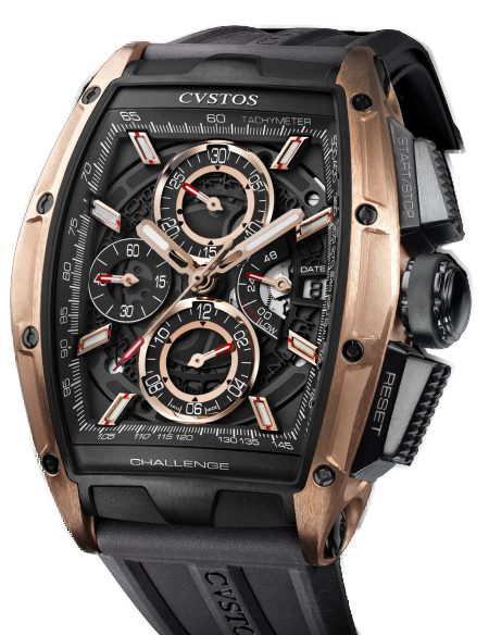 Cvstos Challenge GT Chrono II 5N Red Gold & Titanium Men's Watch, CVSCC5NRGGT/TBL