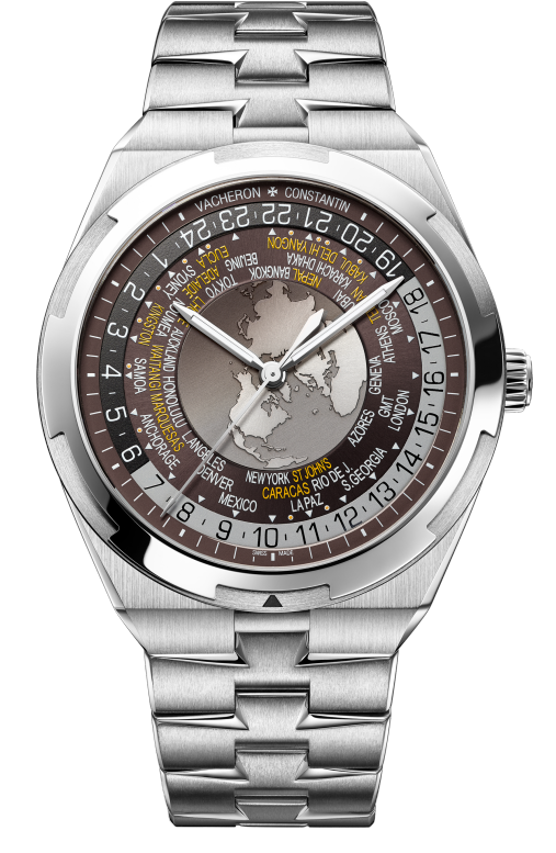 Vacheron Constantin Overseas World Time Stainless Steel Men's Watch, 7700V/110A-B176