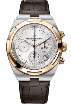 Vacheron Constantin Overseas Chronograph Stainless Steel & 18K 5N Pink Gold Men's Watch 5500V/000M-B074