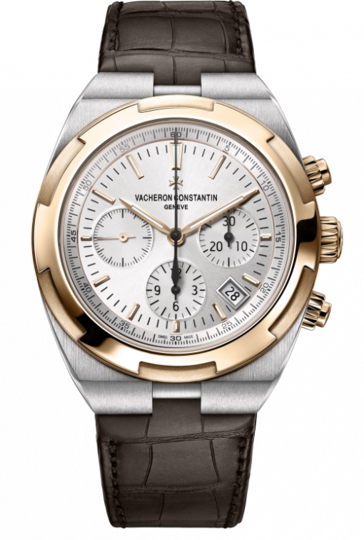 Vacheron Constantin Overseas Chronograph Stainless Steel & 18K 5N Pink Gold Men's Watch, 5500V/000M-B074