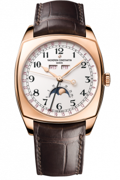Vacheron Constantin Harmony Complete Calendar Moonphase 18K 5N Pink Gold Men's Watch 4000S/000R-B123