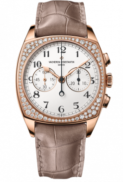 Vacheron Constantin Harmony Chronograph 18K 5N Pink Gold & Diamonds Men's Watch 5005S/000R-B139