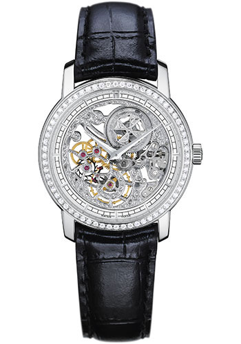 Vacheron Constantin Traditionnelle Ultra-Thin Openworked 18K White Gold & Diamonds Ladies Watch, 33558/000G-9394