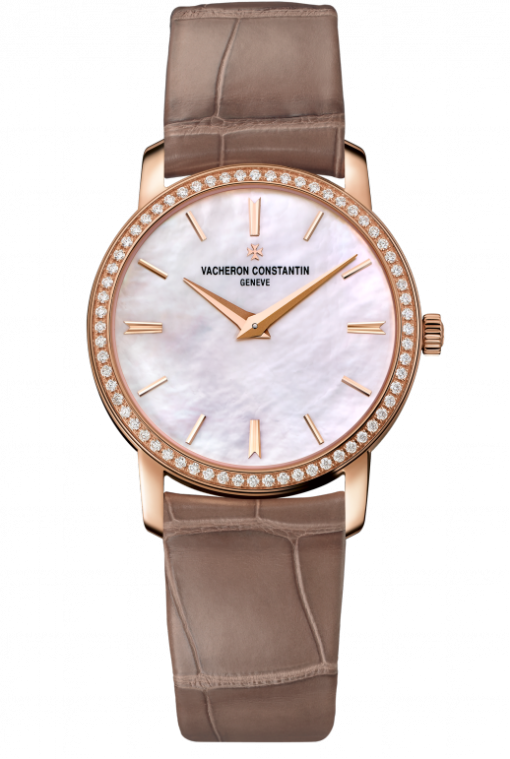 Vacheron Constantin Traditionnelle 18K 5N Pink Gold & Diamonds Ladies Watch, 25558/000R-B156