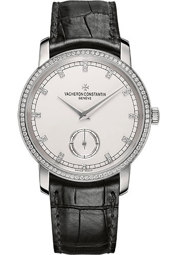 Vacheron Constantin Traditionnelle Complete Calendar 18K White Gold & Diamonds Men's Watch, 82572/000G-9605