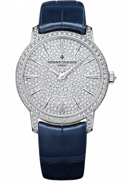 Vacheron Constantin Traditionnelle 18K White Gold & Diamonds Ladies Watch, 81591/000G-9913