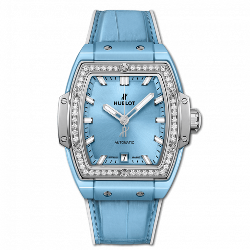 Hublot Spirit Of Big Bang Ceramic & Titanium & Diamonds Unisex Watch, 665.EN.891L.LR.1204