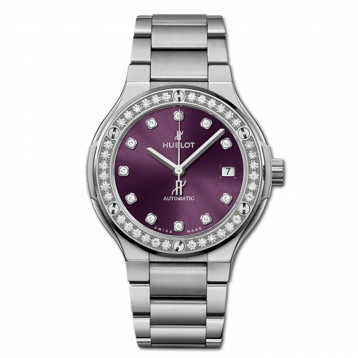 Hublot Classic Fusion Titanium & Diamonds Ladies Watch, 568.NX.897V.NX.1204
