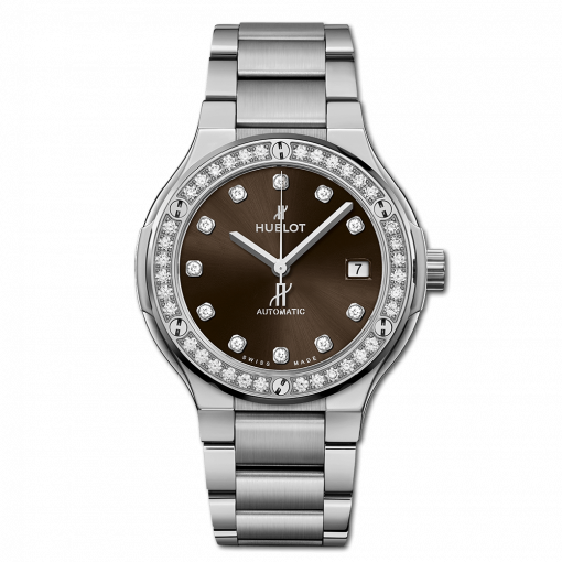 Hublot Classic Fusion Titanium & Diamonds Ladies Watch, 568.NX.897M.NX.1204