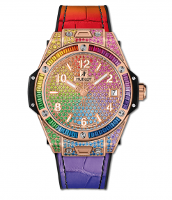 Hublot Big Bang One Click Rainbow 18K King Gold & Gemstones Unisex Watch 465.OX.9910.LR.0999