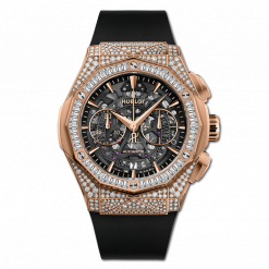 Hublot Classic Fusion Aerofusion Chronograph Orlinski 18K King Gold & Diamonds Men's Watch 525.OX.0180.RX.0904.ORL19