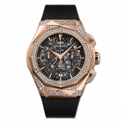Hublot Classic Fusion Aerofusion Chronograph Orlinski 18K King Gold & Diamonds Men's Watch 525.OX.0180.RX.1804.ORL19