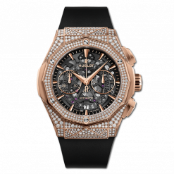Hublot Classic Fusion Aerofusion Chronograph Orlinski 18K King Gold & Diamonds Men's Watch 525.OX.0180.RX.1704.ORL19
