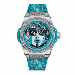 Hublot Big Bang One Click Marc Ferrero Stainless Steel & Blue Topazes Ladies… 465.SX.1190.VR.1207.LIP19