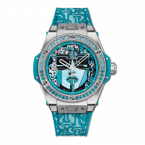 Hublot Big Bang One Click Marc Ferrero Stainless Steel & Blue Topazes Ladies Watch, 465.SX.1190.VR.1207.LIP19