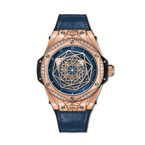Hublot Big Bang One Click Sang Bleu 18K King Gold & Diamonds Men`s Watch, 465.OS.7189.VR.1204.MXM19