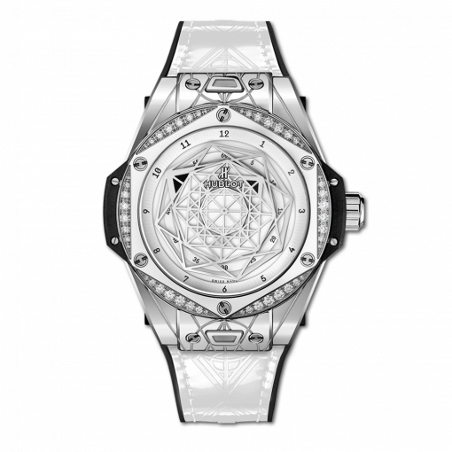 Hublot Big Bang One Click Sang Bleu Stainless Steel & Diamonds Men`s Watch, 465.SS.2027.VR.1204.MXM19