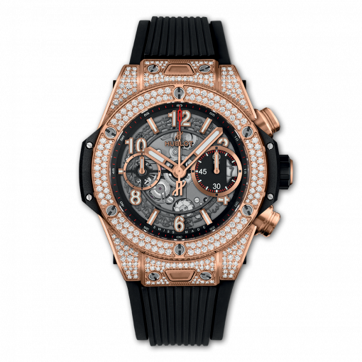 Hublot Big Bang Unico 18K King Gold & Diamonds Men`s Watch, 441.OX.1180.RX.1704