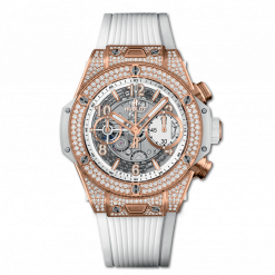 Hublot Big Bang Unico 18K King Gold & Diamonds Men`s Watch 441.OE.2010.RW.1704