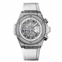 Hublot Big Bang Unico Titanium & Diamonds Men`s Watch 441.NE.2010.RW.1104