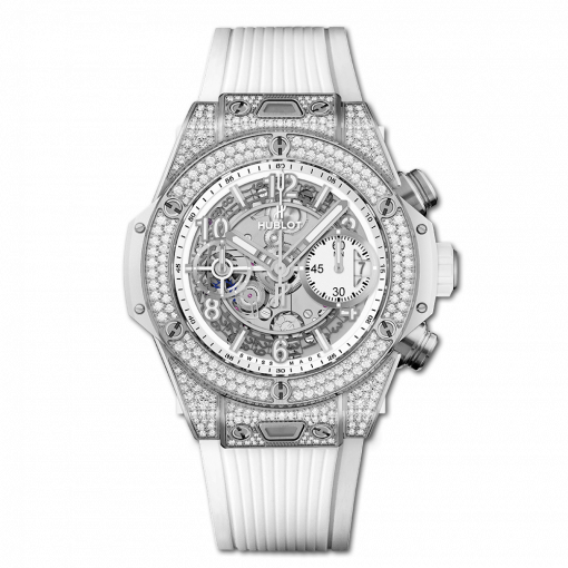 Hublot Big Bang Unico Titanium & Diamonds Men`s Watch, 441.NE.2010.RW.1704