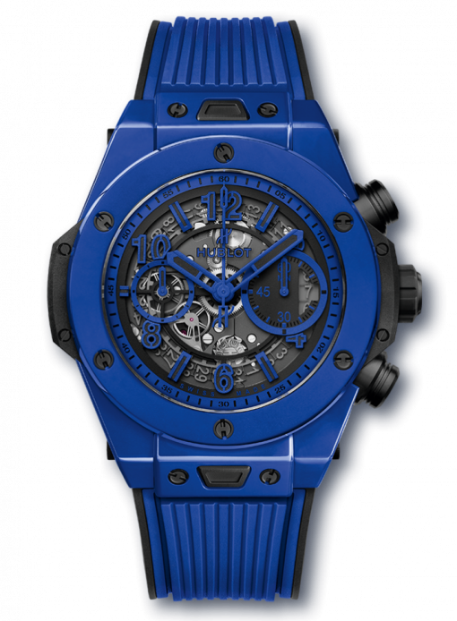 Hublot Big Bang Unico Blue Magic Ceramic Men`s Watch, 411.ES.5119.RX