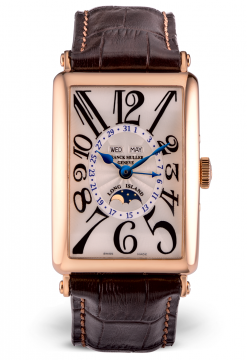 Franck Muller Long Island Master Calendar Lunar 18K Rose Gold Men's Watch preowned-1200 MC L